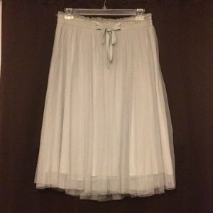 Grey/Blue Tulle Skirt